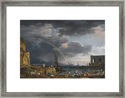 An Italianate Coasta Framed Print