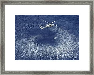 An Mh-60s Knight Hawk Prepares Framed Print by Stocktrek Images