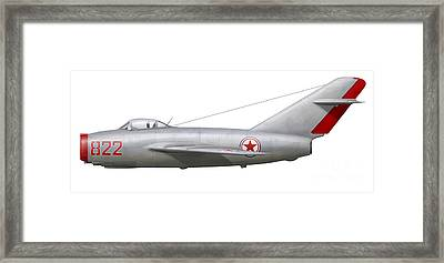 An Mig-15bis Of The North Korean Air Framed Print