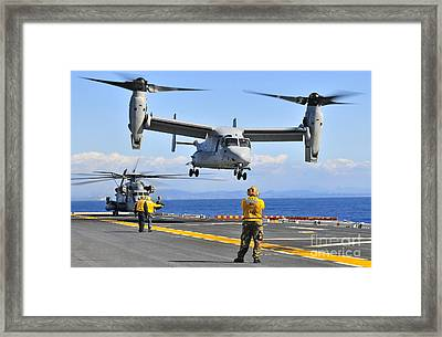 An Mv-22 Osprey Takes Framed Print by Stocktrek Images