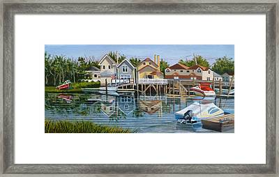 An Oasis Of Peace In Queens Framed Print