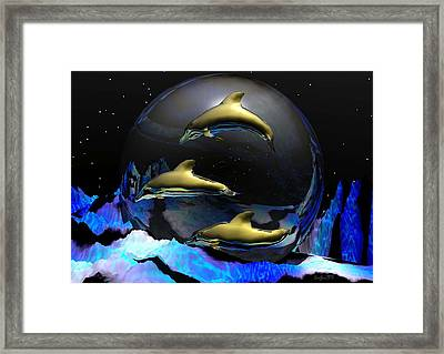 An Ocean Full Of Tears Framed Print by Robert Orinski
