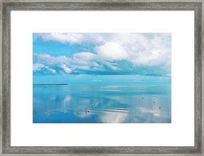 An Ocean Like Glass Framed Print