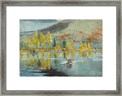 An October Day Framed Print by Winslow Homer