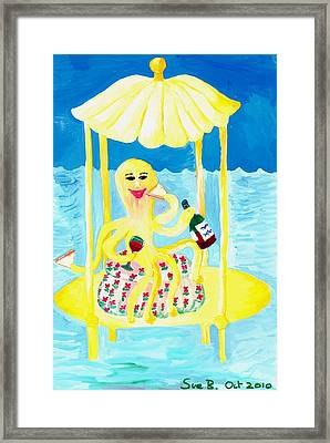 An Octopus Summerhouse Framed Print by Sushila Burgess