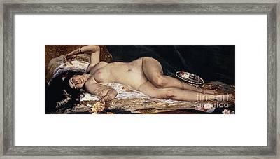 An Odalisque Framed Print by Ferdinand Roybet