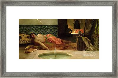 An Odalisque In A Harem Framed Print