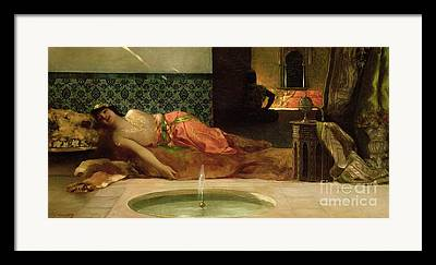 Woman In Pool Framed Prints