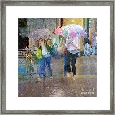 Framed Print featuring the photograph An Odd Sharp Shower by LemonArt Photography