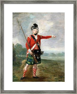 An Officer Of The Light Company Of The 73rd Highlanders Framed Print by Scottish School