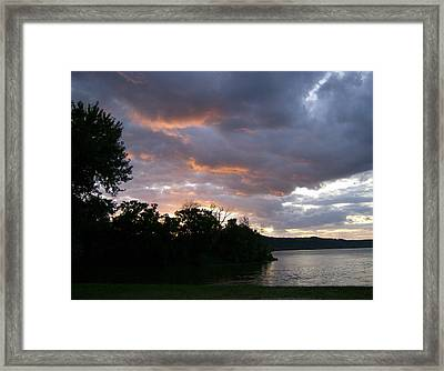 Framed Print featuring the photograph An Ohio River Valley Sunrise by Skyler Tipton
