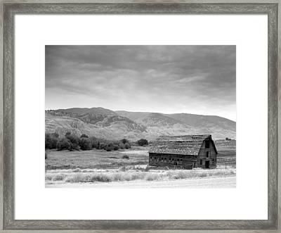 An Old Barn Framed Print by Mark Alan Perry