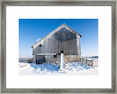 An Old Barn Framed Print by Todd Klassy
