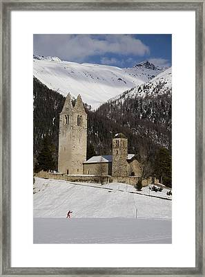 An Old Church And Tower Nestled Framed Print by Taylor S. Kennedy