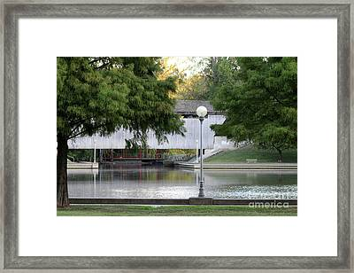 An Old Covered Bridge - Columbus Indiana Framed Print