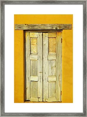 An Old Door Framed Print