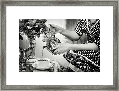 An Old Fashioned Tea Party Framed Print by Jill Wellington