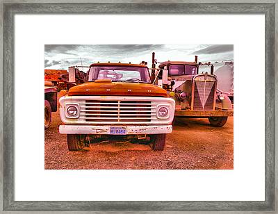 Framed Print featuring the photograph An Old Ford And Kenworth by Jeff Swan
