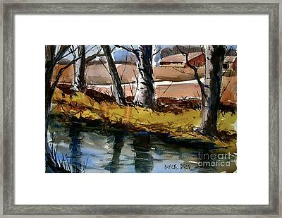 Framed Print featuring the painting An Old Friend The Eel by Charlie Spear