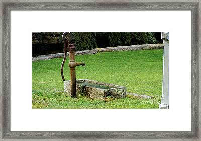 Framed Print featuring the painting An Old Hand Pump In Plymouth,mass by Rod Jellison