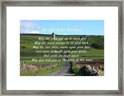 An Old Irish Blessing #6 Framed Print by Aidan Moran