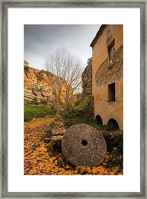 An Old Mill Wheel Outside An Old Flour Framed Print by Panoramic Images