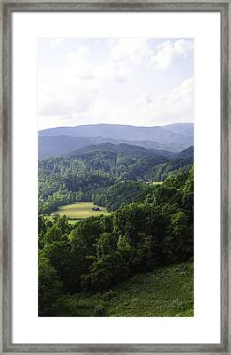 An Old Shack Hidden Away In The Blue Ridge Mountains Framed Print