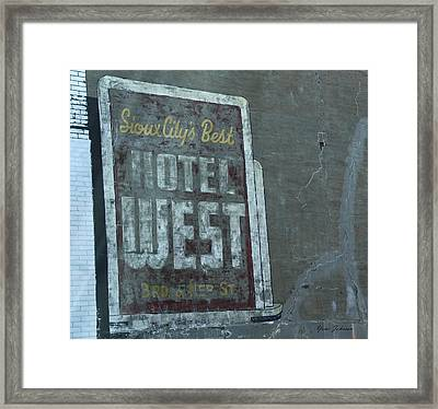 An Old Sign Framed Print by Yumi Johnson