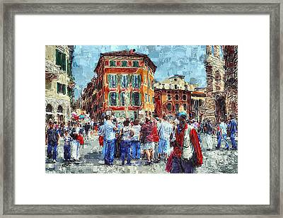 An Old Town Tourist Route Framed Print by Yury Malkov