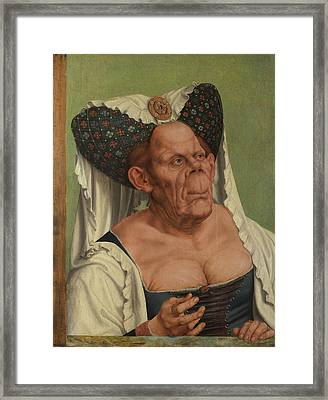 An Old Woman The Ugly Duchess Framed Print