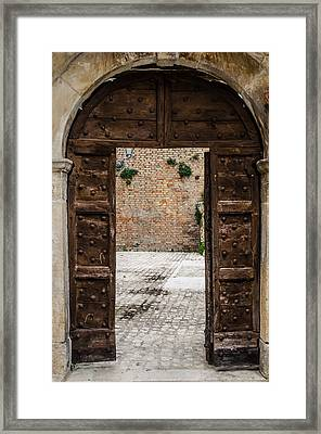 An Old Wooden Door 2 Framed Print by Andrea Mazzocchetti