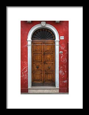 Old Wooden Door Framed Prints