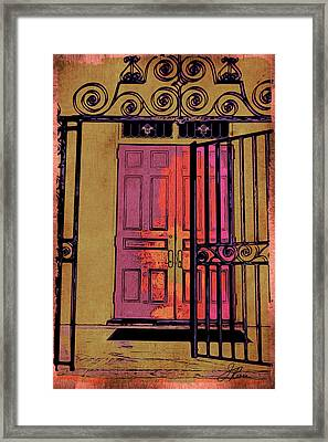 An Open Gate Framed Print