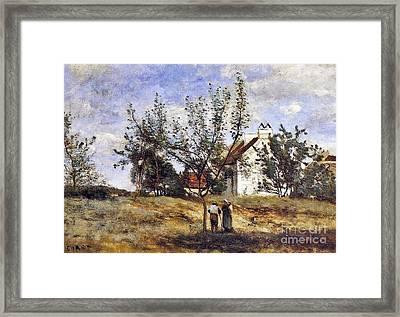 An Orchard At Harvest Time Framed Print