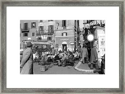 An Ordinary Day In Trastevere Framed Print