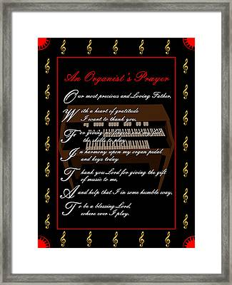 An Organists Prayer_1 Framed Print by Joe Greenidge