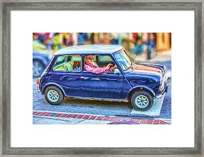 An Original Mini Cooper Framed Print by John Haldane