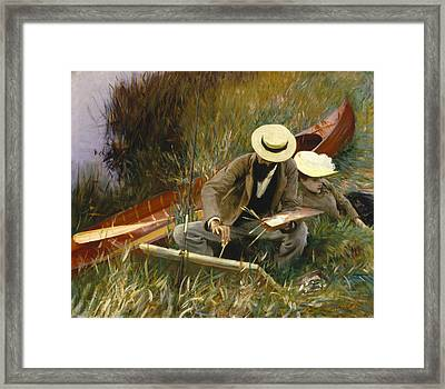 An Out Of Doors Study Framed Print by John Singer Sargent
