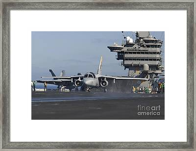An S-3b Viking Prepares To Launch Framed Print by Stocktrek Images