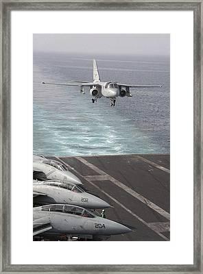 An S-3b Viking Prepares To Make An Framed Print by Stocktrek Images