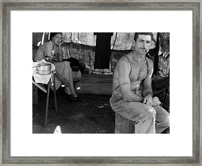 An Unemployed Lumber Worker Framed Print