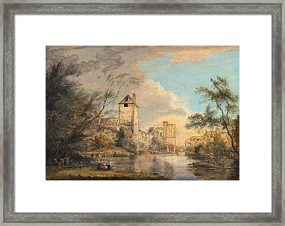 An Unfinished View Of The West Gate, Canterbury Framed Print by Paul Sandby