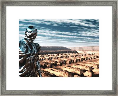 Framed Print featuring the digital art An Untitled Future by John Alexander
