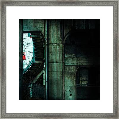 An Urban Window Framed Print