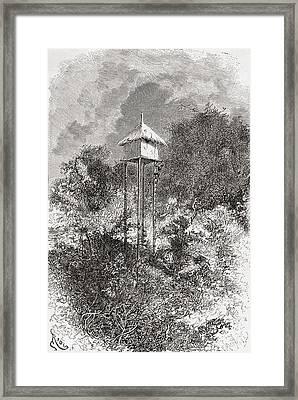 An Usagaran Granary Barn, Usagara Framed Print