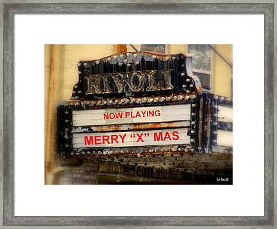 An X Rated Holiday Framed Print