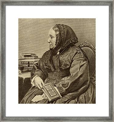 Ana Jameson, 1794-1860. Irish Novelist Framed Print by Vintage Design Pics