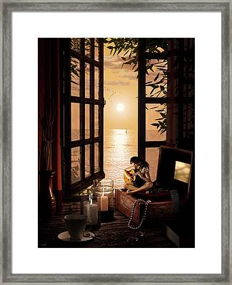 Ana Framed Print by Shinji K