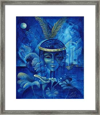 Anacaona Framed Print by Elie Lescot