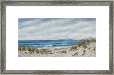 Anacapa Island Thru The Dunes Lll Framed Print by Tina Obrien
